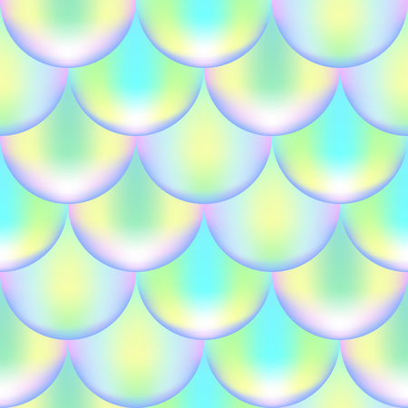 Mermaid or fish scale seamless pattern with holographic effect. Iridescent mermaid vector background. Violet green pattern swatch. Fish scale pattern. Mermaid skin seamless pattern for wrapping paper
