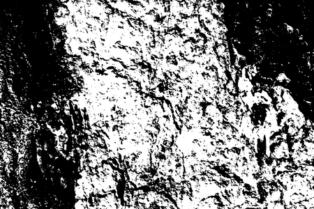 Black on white weathered texture. Aged tree bark surface. Distressed vector overlay for vintage effect. Abstract grainy surface. Uneven texture with frequent grit. Material design template