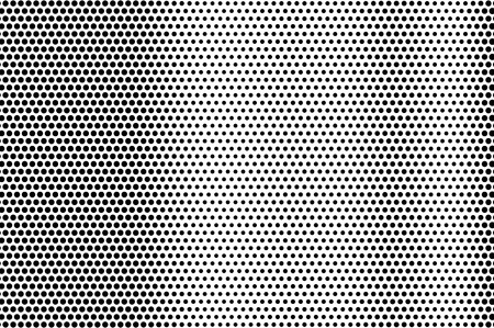 Black on white grunge halftone texture. Dotted vector background. Vertical dotwork gradient. Monochrome halftone overlay for vintage cartoon effect. Perforated retro card. Abstract dotwork surface