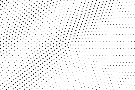 Black on white faded halftone texture. Sparse dotwork gradient. Halftone vector background. Monochrome halftone overlay for vintage cartoon effect. Perforated retro card. Abstract dotwork surface