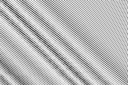 Black on white diagonal halftone texture. Diagonal dotwork gradient. Dotted vector background. Monochrome halftone overlay for vintage cartoon effect. Perforated retro card. Abstract dotwork surface