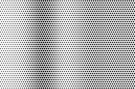 Black on white distressed halftone vector texture. Digital optic illusion. Vertical dotwork gradient for vintage effect. Monochrome halftone overlay. Perforated retro background. Ink dot texture card
