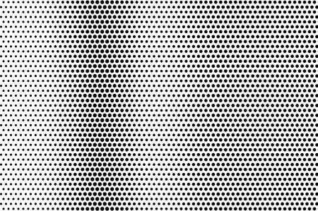 Schwarz auf weiß beunruhigte Halbtonvektorbeschaffenheit. Digitale optische Täuschung. Vertikaler Dotwork-Gradient für Vintage-Effekt. Monochrome Halbtonüberlagerung. Perforierter Retro-Hintergrund. Karte mit Tintenpunktstruktur
