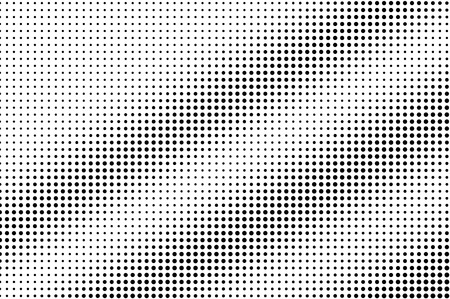 Black on white regular halftone vector. Digital dotted texture. Faded dotwork gradient for vintage effect. Monochrome halftone overlay for cartoon effect. Perforated background. Ink dotwork surface