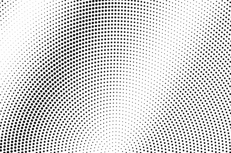 Black on white faded halftone texture. Diagonal dotwork gradient. Rough dotted vector background. Monochrome halftone overlay. Vintage cartoon effect. Perforated texture. Retro dotwork surface