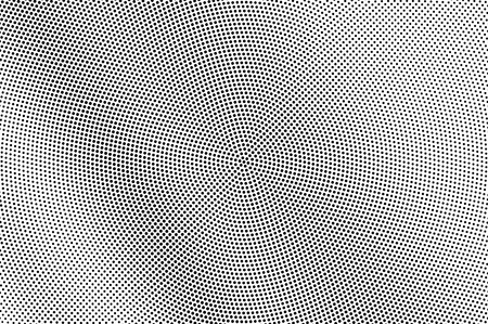 Black and white halftone vector texture. Diagonal dotted gradient. Dark dotwork surface. Vintage effect overlay textured with ink dots. Monochrome halftone background. Perforated retro graphic Illustration