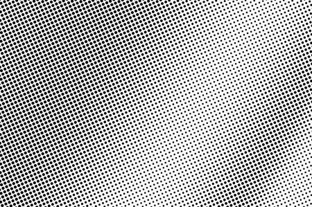 Black and white halftone vector texture. Textured dotted gradient. Smooth dotwork surface. Vintage effect overlay textured with ink dots. Monochrome halftone background. Perforated retro graphic