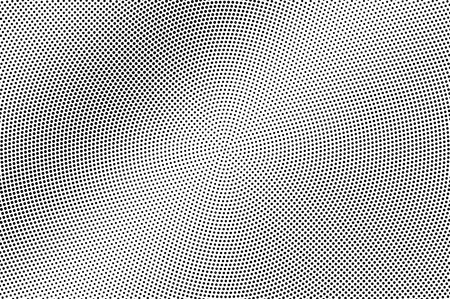 Black and white halftone vector texture. Frequent dotted gradient. Smooth dotwork surface. Vintage effect overlay textured with ink dots. Monochrome halftone background. Perforated retro graphic