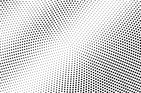 Black and white halftone vector texture. Contrast dotted gradient. Grunge dotwork surface. Vintage effect overlay textured with ink dots. Monochrome halftone background. Perforated retro graphic