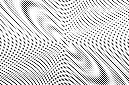 Black and white halftone vector texture. Circular dotted gradient. Micro dotwork surface. Vintage effect overlay textured with ink dots. Monochrome halftone background. Perforated retro graphic