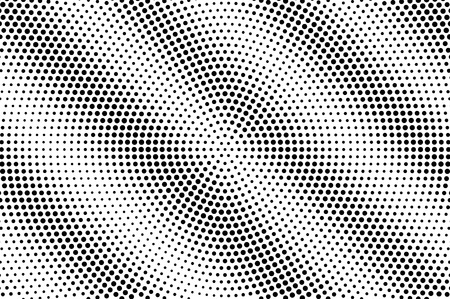 Black on white halftone vector texture. Diagonal dotted gradient. Contrast sparse dotwork surface for vintage effect. Monochrome halftone overlay. Perforated retro background. Ink dot texture card