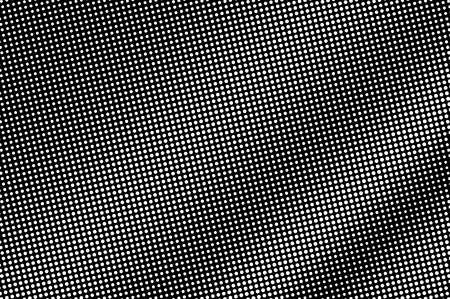 White dots on black background. Regular halftone vector texture. Diagonal dotwork gradient. Monochrome halftone overlay for vintage effect. Perforated surface. Pop art style dot texture card 向量圖像