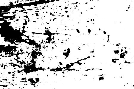 Grunge vector texture of weathered surface. Obsolete wood wall vector trace. Distressed effect layer with natural paint stains and blots. Black traced texture for vintage effect. Realistic old surface Ilustração
