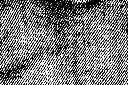 Jeans cloth texture black and white vector texture. Jeans texture background. Scalable denim textile surface. Rough shabby jeans vector background. Monochrome jeans backdrop. Vintage jeans macro image Vector Illustration
