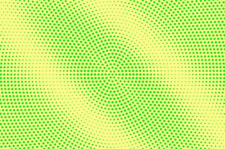 Yellow green halftone vector background. Grungy halftone texture. Diagonal dotwork gradient. Vibrant dotted halftone surface. Retro halftone overlay. Vintage cartoon effect. Perforated texture Illustration