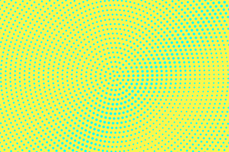 Yellow green halftone vector background. Subtle halftone texture. Diagonal dotwork gradient. Vibrant dotted halftone surface. Retro halftone overlay. Vintage cartoon effect. Perforated texture Illustration