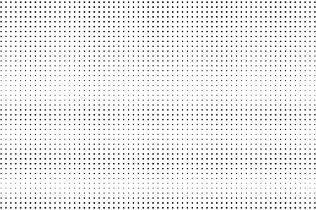 Black and white halftone vector background. Horizontal gradient on regular dotwork texture. Sparse dotted halftone. Retro halftone overlay. Vintage distressed effect. Monochrome perforated texture
