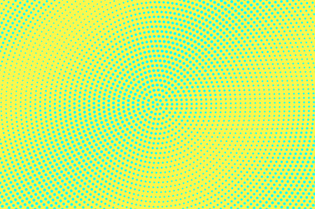 Yellow green halftone vector background. Smooth halftone texture. Diagonal dotwork gradient. Vibrant dotted halftone surface. Retro halftone overlay. Vintage cartoon effect. Perforated texture Illustration