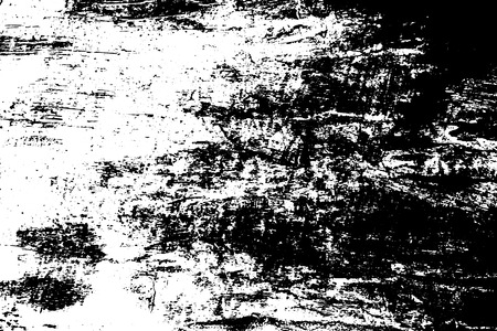 Black and white old timber texture. Dirty wooden surface traced vector background. Scratch natural texture. Abstract monochrome ornament. Grungy distressed foreground. Noisy vintage effect overlay