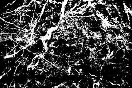 Black and white stone texture. Marble with veins surface traced vector background. Whimsical natural texture. Abstract monochrome ornament. Grungy distressed foreground. Noisy vintage effect overlay