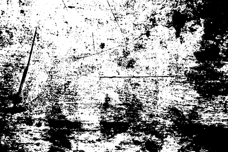 Black and white scratched board texture. Wooden surface traced vector background. Rough natural texture. Abstract monochrome ornament. Grungy distressed foreground. Noisy vintage effect overlay