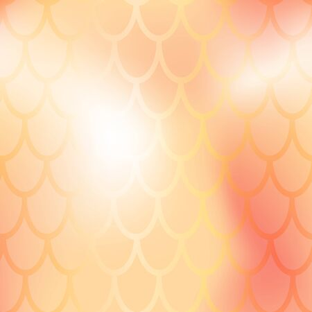Mermaid or fish scale seamless pattern. Golden mermaid skin vector background. Marine pattern tile. Holographic gradient with fishscale ornament. Gold metallic texture. Iridescent wrapping paper