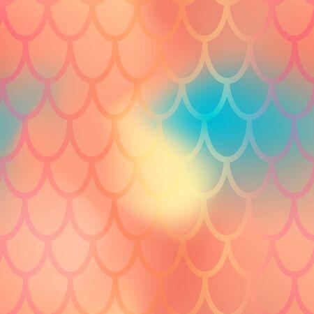 Patrón transparente de escala de sirena o pez. Ilustración de vector