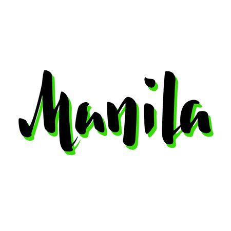 Manila city name handwritten lettering.