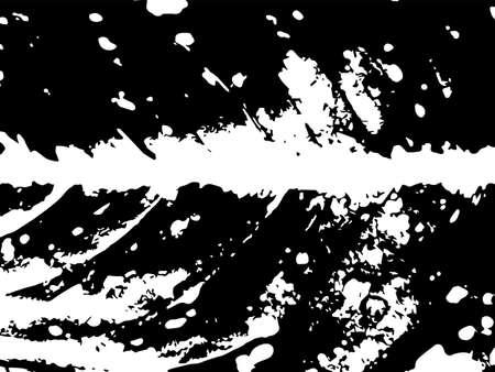 Grunge leaf vein vector texture. Black splatter on white background. Natural leaf stamp for vintage design. Foliage vein pattern surface. Leaf macro texture