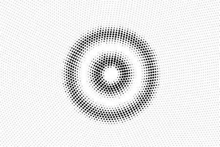 Black and white vector halftone. Subtle halftone digital texture. Faded dotted gradient. Comic effect overlay. Retro dot pattern on transparent back. Illusztráció