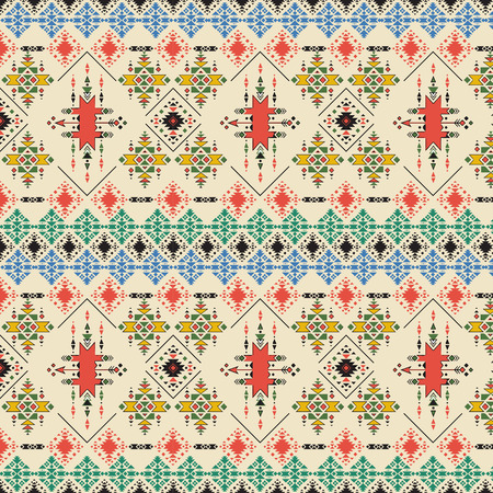 abstract tribal pattern repeated ethnic elements