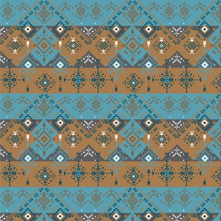 colorful abstract pattern, tribal elements, vector Stock Illustratie