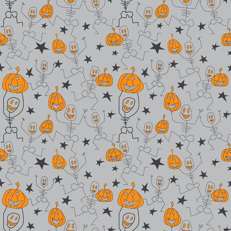 happy creepy dancing silhouettes holding halloween s pumpkins.seamless pattern for printing on paper and fabric. perfect for halloween packaging.