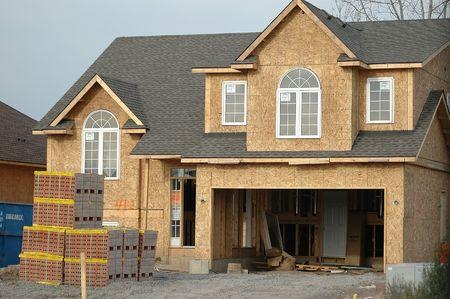건설중인 새 집 스톡 콘텐츠
