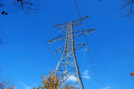 Power Transmission Tower and Lines