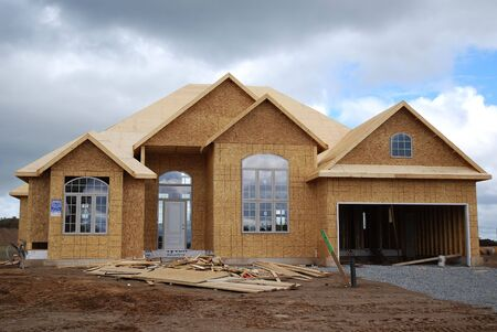 subdivisions: New House Construction Stock Photo