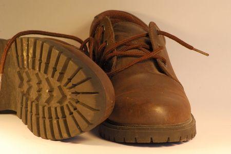 Pair of Brown Men`s Shoes
