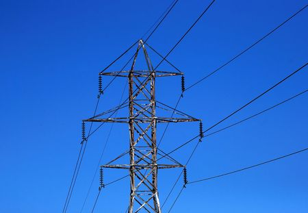 Transmission Tower and Power Lines