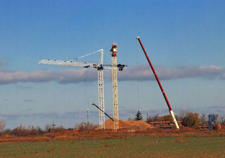 site: Construction Site Cranes