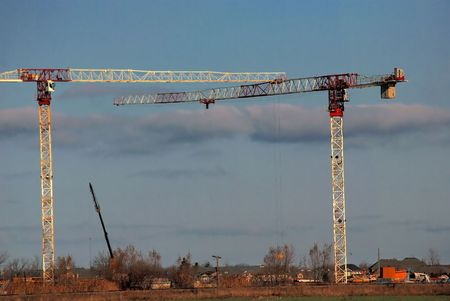 Construction Site Cranes