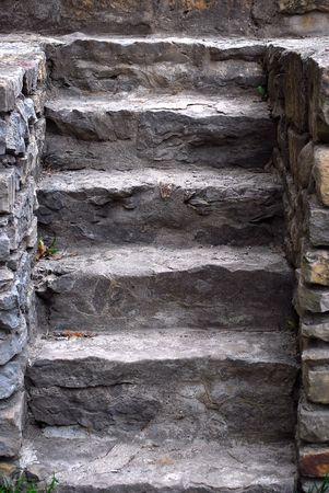 Set of Old Stone Steps