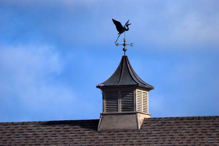 wiatrowskaz: Rooftop Weather Vane Zdjęcie Seryjne