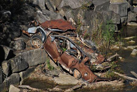abandoned car: Old,Abandoned Car