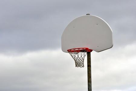 backboard: Outdoor Basketball Net and Backboard Stock Photo