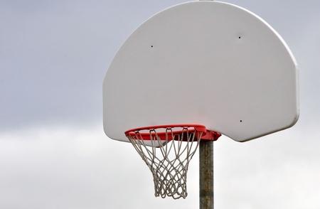 屋外バスケット ボール ネットと背板 写真素材