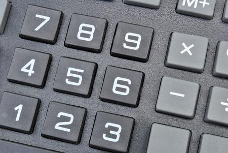 電卓のキーパッド 写真素材