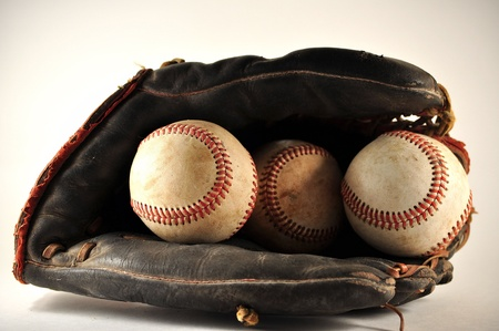 Old Baseball Glove With Baseballs Stock Photo - 11222435