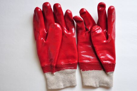 Rubber Work Gloves Stock Photo - 13246577