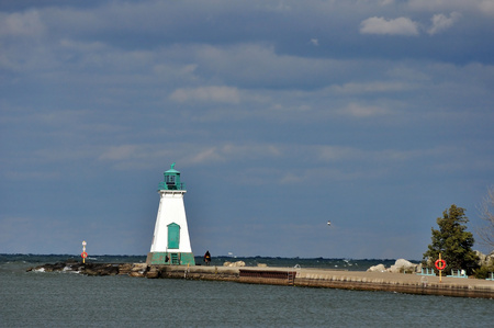 Lighthouse on Lake Ontario Pier