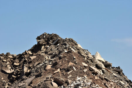 Rubble from a demolished building Фото со стока